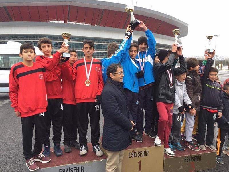 m.kaplan kros 1 - Mehmet Kaplan Ortaokulu Kros Yarışması
