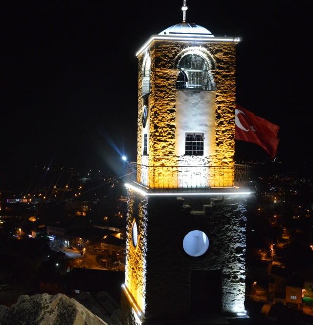 sivrihisar saat kulesi gece - Sivrihisar Clock Tower